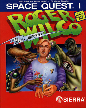 Cover for Space Quest: The Sarien Encounter.