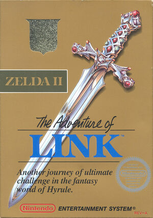 Cover for Zelda II: The Adventure of Link.