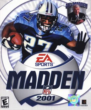 Cover for Madden NFL 2001.