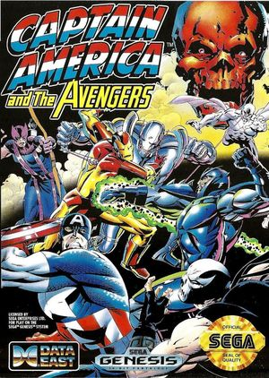 Cover for Captain America and The Avengers.