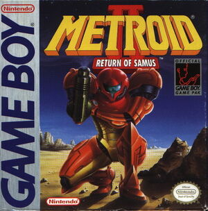 Cover for Metroid II: Return of Samus.