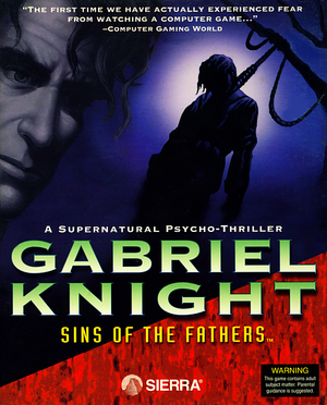 Cover for Gabriel Knight: Sins of the Fathers.