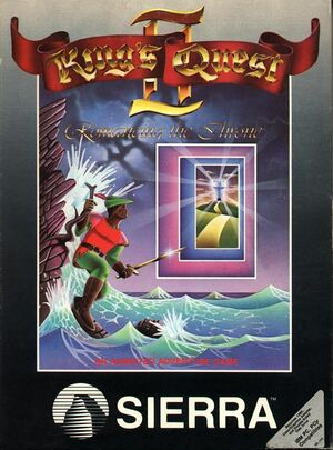 Cover for King's Quest II: Romancing the Throne.