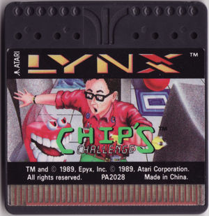 Cover for Chip's Challenge.
