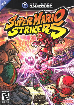 Cover for Super Mario Strikers.