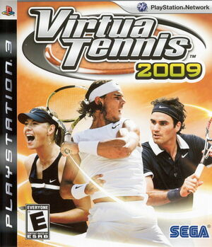 Cover for Virtua Tennis 2009.