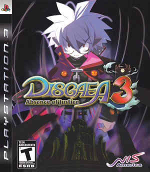 Cover for Disgaea 3: Absence of Justice.