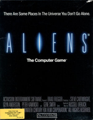 Cover for Aliens: The Computer Game.
