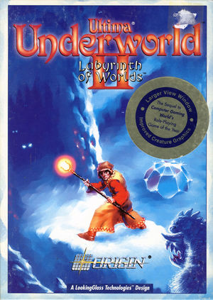 Cover for Ultima Underworld II: Labyrinth of Worlds.