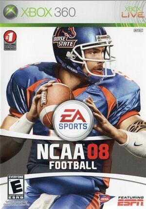 Cover for NCAA Football 08.
