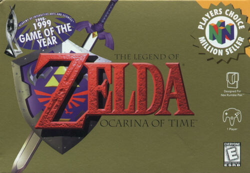 Cover for The Legend of Zelda: Ocarina of Time.