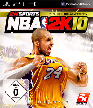 Cover for NBA 2K10.