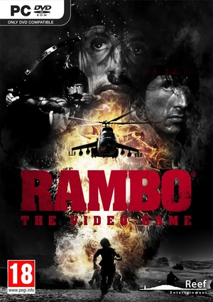 Cover for Rambo: The Video Game.