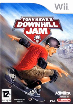 Cover for Tony Hawk's Downhill Jam.