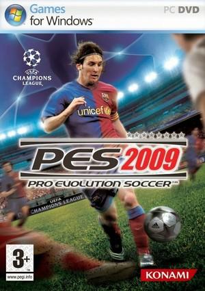 Cover for Pro Evolution Soccer 2009.
