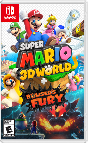 Cover for Super Mario 3D World + Bowser's Fury.
