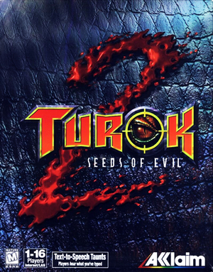 Cover for Turok 2: Seeds of Evil.