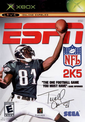 Cover for ESPN NFL 2K5.