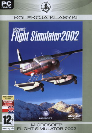 Cover for Microsoft Flight Simulator 2002.