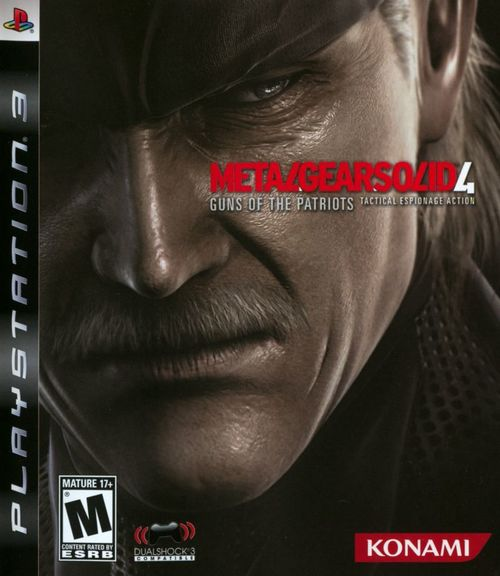 Cover for Metal Gear Solid 4: Guns of the Patriots.