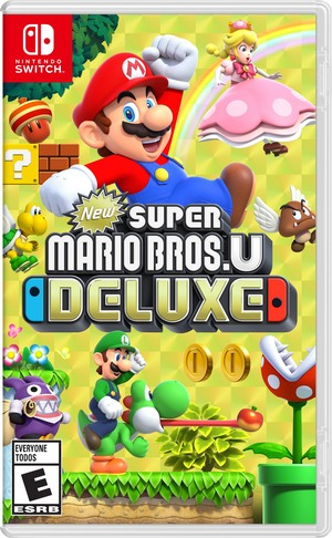 Cover for New Super Mario Bros. U Deluxe.