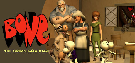 Cover for Bone: The Great Cow Race.