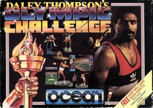 Cover for Daley Thompson's Olympic Challenge.