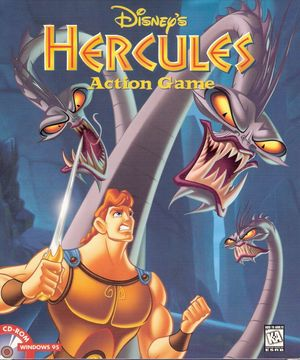 Cover for Disney's Action Game Featuring Hercules.