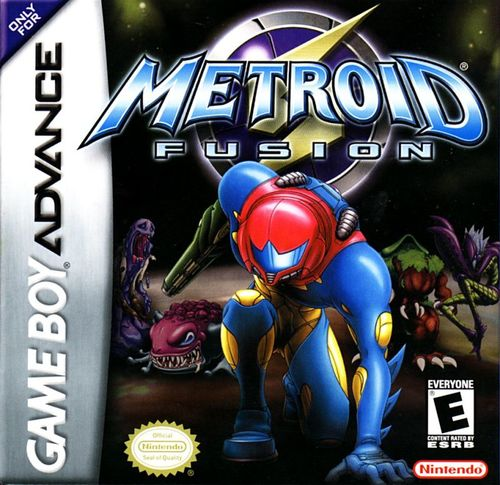 Cover for Metroid Fusion.
