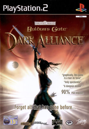 Cover for Baldur's Gate: Dark Alliance.
