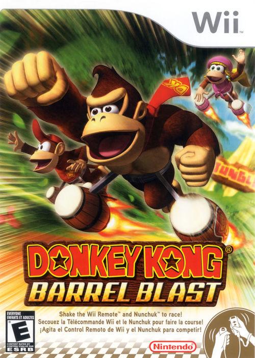 Cover for Donkey Kong Barrel Blast.