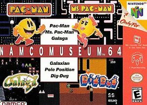 Cover for Namco Museum 64.