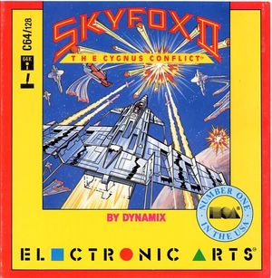 Cover for Skyfox II: The Cygnus Conflict.