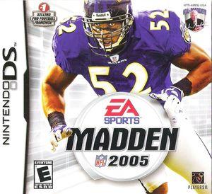 Cover for Madden NFL 2005.
