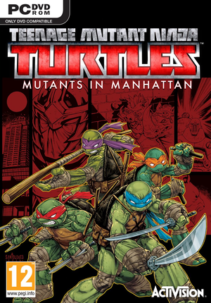 Cover for Teenage Mutant Ninja Turtles: Mutants in Manhattan.