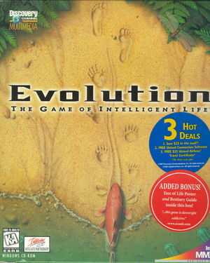 Cover for Evolution: The Game of Intelligent Life.