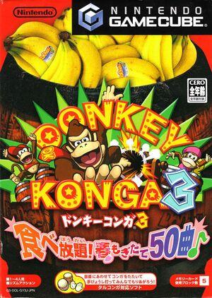Cover for Donkey Konga 3.