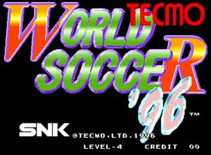 Cover for Tecmo World Soccer '96.