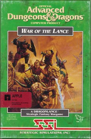 Cover for War of the Lance.