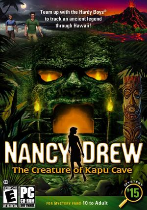Cover for Nancy Drew: The Creature of Kapu Cave.