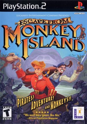Cover for Escape from Monkey Island.