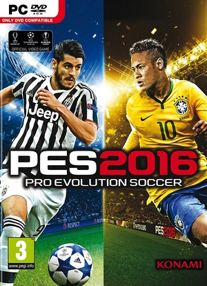Cover for Pro Evolution Soccer 2016.