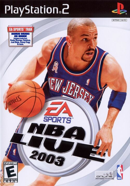 Cover for NBA Live 2003.