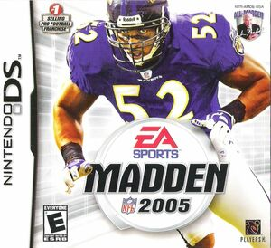 Cover for Madden NFL 2005.