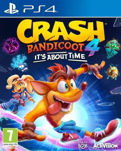 Cover for Crash Bandicoot 4: It's About Time.