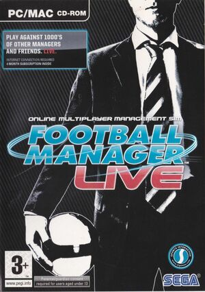 Cover for Football Manager Live.