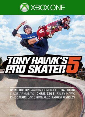Cover for Tony Hawk's Pro Skater 5.