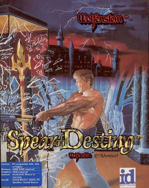 Cover for Wolfenstein 3D: Spear of Destiny.