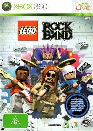 Cover for Lego Rock Band.