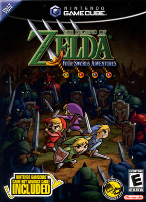 Cover for The Legend of Zelda: Four Swords Adventures.